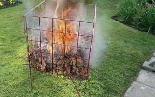 Печь для мусора на даче
