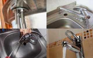 Установка кухонного смесителя своими руками