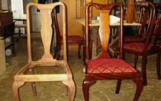 Правильная перетяжка стульев своими руками