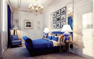 Интерьер спальни в американском стиле: высокие кровати, особенности дизайна