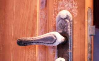 Качественное утепление двери своими руками