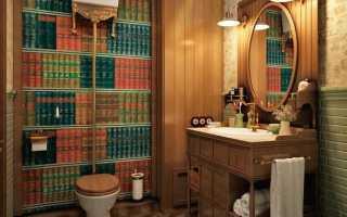 Целесообразность поклейки обоев в туалете и их выбор