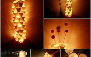 Оригинальный ночной светильник своими руками