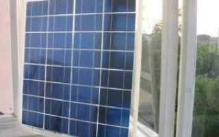 Установка солнечных батарей на балконе