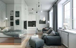 Совмещение зон: спальня плюс гостиная