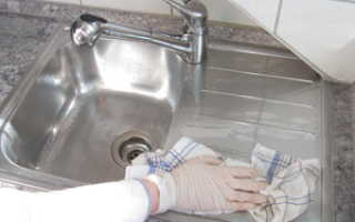 Как почистить раковину из нержавейки