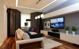 Дизайн гостиной с грациозным эркером