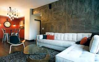 Оригинальная плитка для стен гостиной