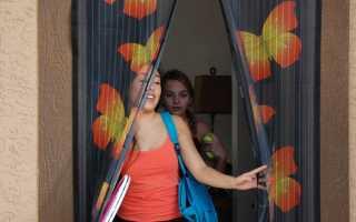 Выбираем магнитные шторы на двери