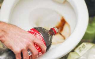 Очищение унитаза от налета ржавчины
