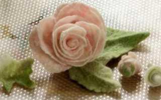 Как сделать из шерсти сферические цветы: мастер класс по валянию