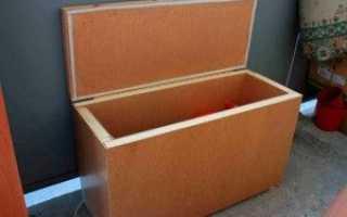Ящик под картошку на балконе