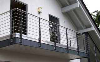 Устройство ограждения балкона из нержавейки