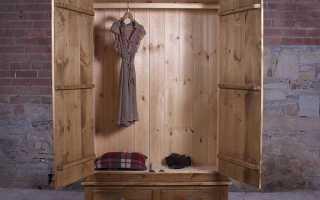 Деревянный шкаф: изготовление своими руками