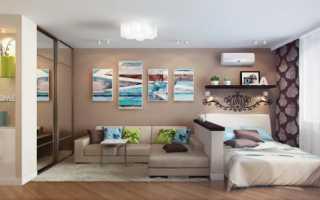 Варианты дизайна спальни гостиной с перегородкой