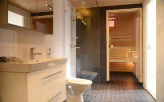 Дизайн сауны в ванной комнате