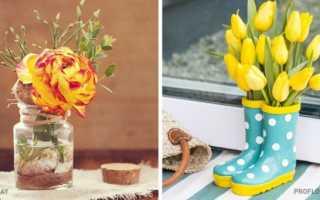 Живые цветы как украшение интерьера