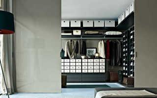 Современная гардеробная: ключевые особенности