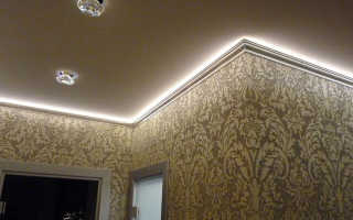 Установка плинтусов под светодиодную ленту