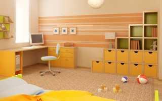 Бежевые обои в детскую комнату