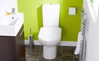 Интерьер туалетной комнаты маленького размера