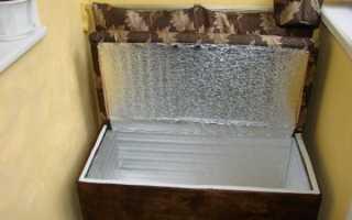 Устройство балконного погребка для хранения овощей