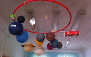 Макет солнечной системы своими руками из бумаги для детей