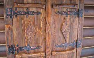 Как покрасить дверь под старину: подготовка, технология