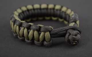 Двухцветный hand-made браслет из паракорда без застежки