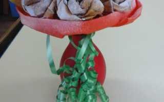 Букет роз из кленовых листьев своими руками