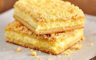 Рецепт творожного пирога с песочной крошкой