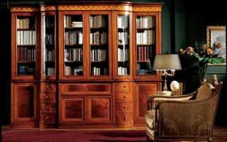 Дизайн книжного шкафа: четыре варианта
