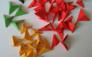 Схемы оригами из треугольных модулей