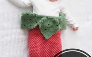 Вязание спицами конверта для малышей: схема и описание