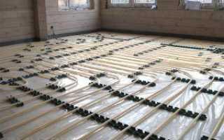 Теплые полы по грунту в бревенчатом доме: порядок монтажа