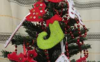 Новогодний декор из фетра — мастер класс