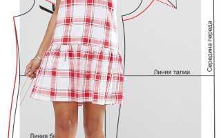 Как сшить платье с оборками