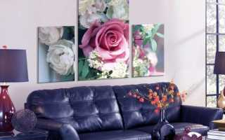 Применение в интерьере квартиры модульных картин