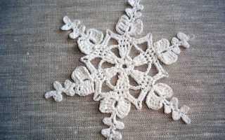 Схема снежинки крючком: мастер-класс с описанием для начинающих