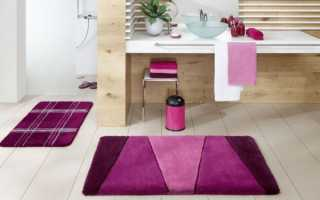 Выбор ковриков для ванной комнаты по разным параметрам