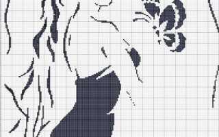 Схема вышивки крестом: «черно-белые картины» скачать бесплатно