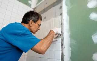 Отделка ванной: как приклеить плитку на гипсокартон?