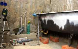 Установка и крепление ванны к стене своими руками