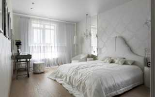 Обои белого цвета для спальни