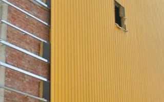 Отделка фасада профлистом (металлоприфилем)