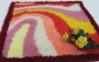 Пушистые коврики своими руками