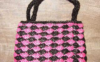 Пляжная сумка крючком: мастер-класс с описанием и схемами вязания