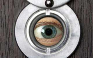Установка глазка в металлическую дверь