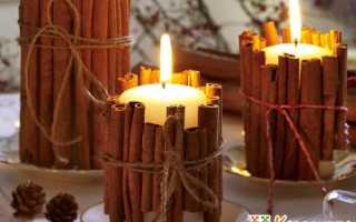 Декоративная свеча ручной работы. Пошагово