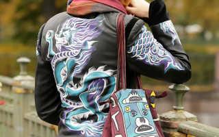 Переделка старой кожаной куртки — мастер класс по росписи акриловыми красками